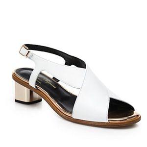 Robert Clergerie Zimola midheel slingback sandal